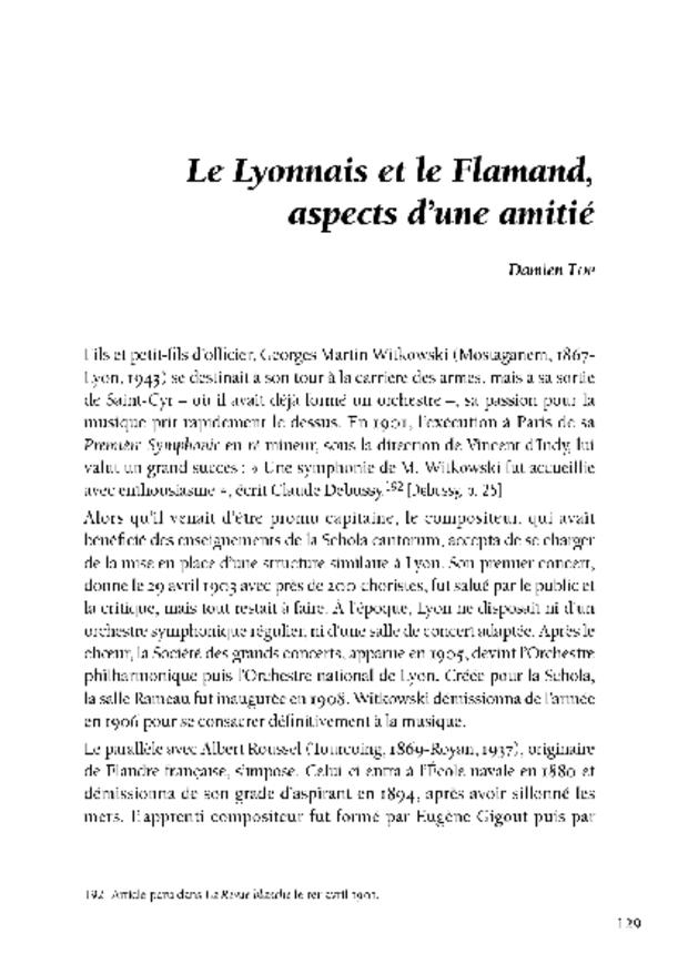 Le mouvement scholiste de Paris à Lyon, extrait 5