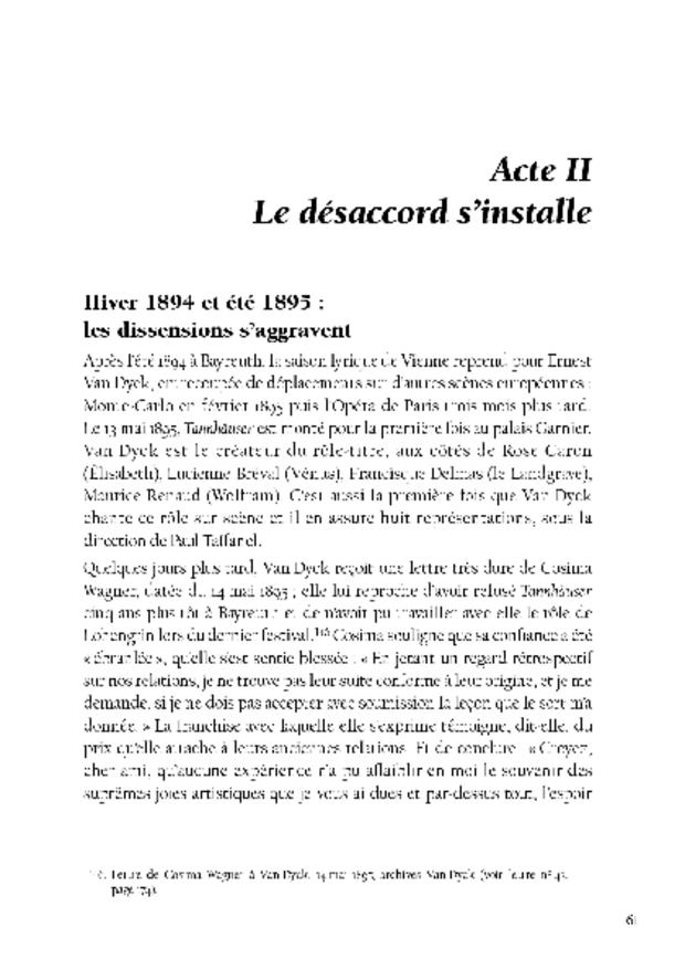 Ernest Van Dyck, un ténor à Bayreuth, extrait 5