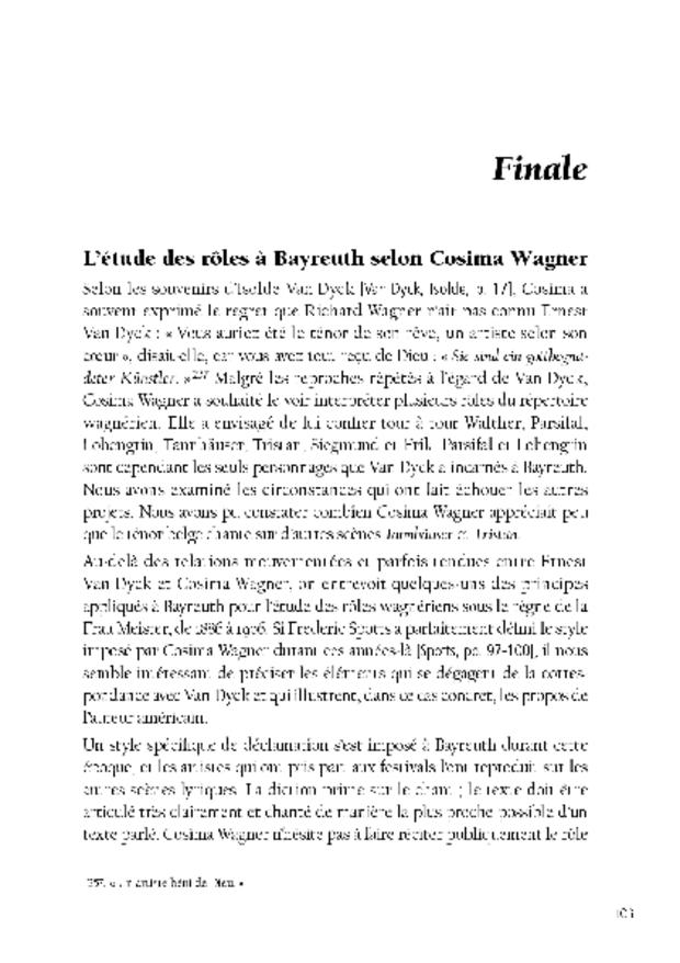 Ernest Van Dyck, un ténor à Bayreuth, extrait 6
