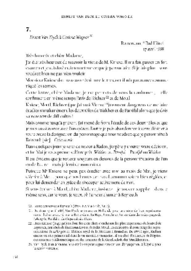 Ernest Van Dyck, un ténor à Bayreuth, extrait 7