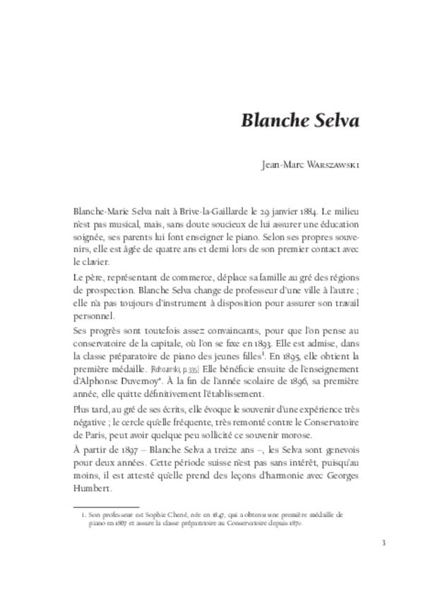 Blanche Selva, extrait 3