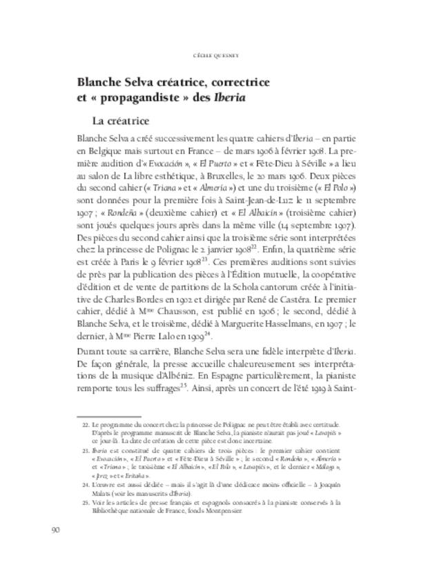Blanche Selva, extrait 7