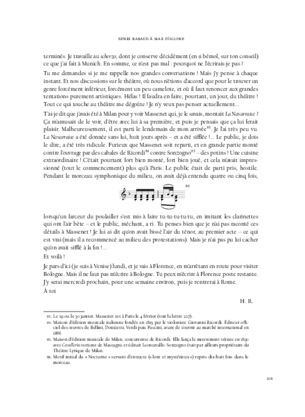Correspondance et écrits de jeunesse, extrait 10