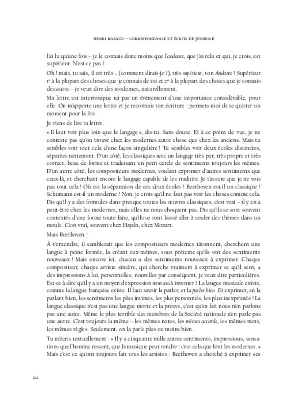 Correspondance et écrits de jeunesse, extrait 11