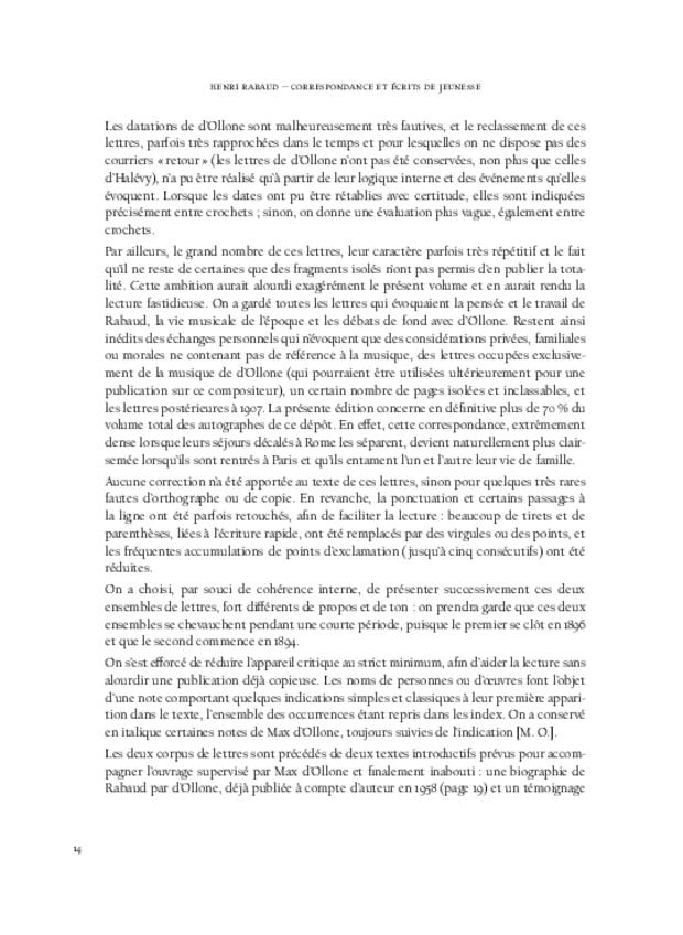 Correspondance et écrits de jeunesse, extrait 4