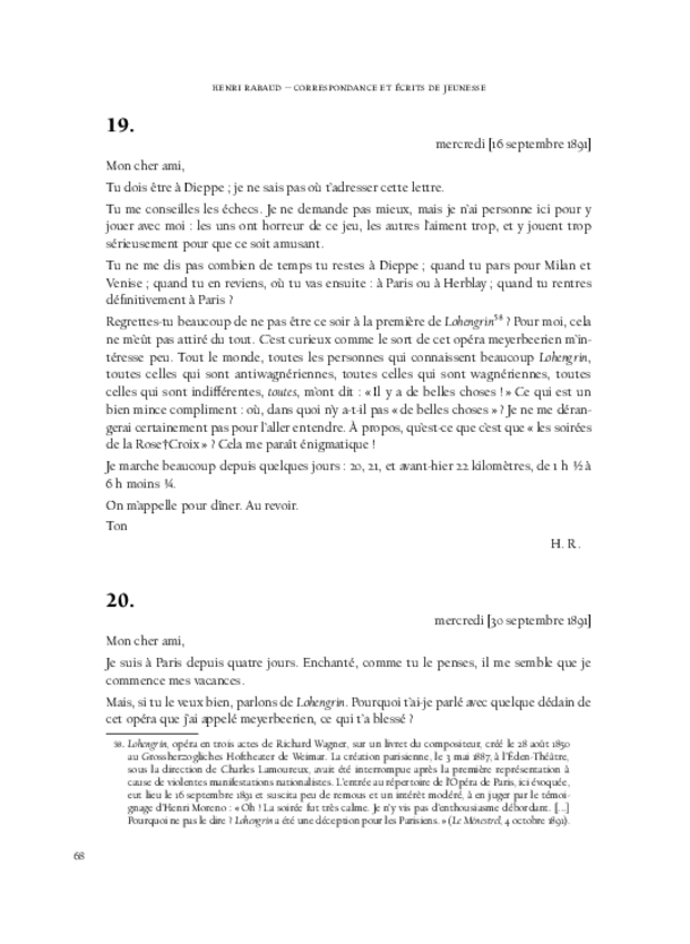 Correspondance et écrits de jeunesse, extrait 5