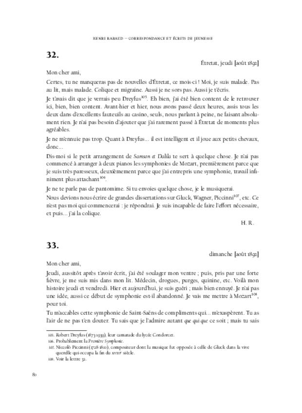 Correspondance et écrits de jeunesse, extrait 8