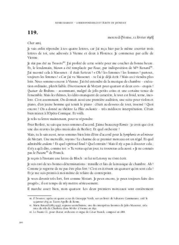 Correspondance et écrits de jeunesse, extrait 9