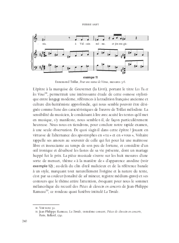 Aspects de la mélodie française, extrait 9