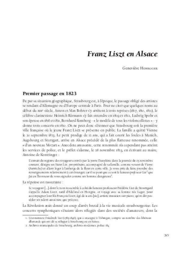 Franz Liszt, extrait 7