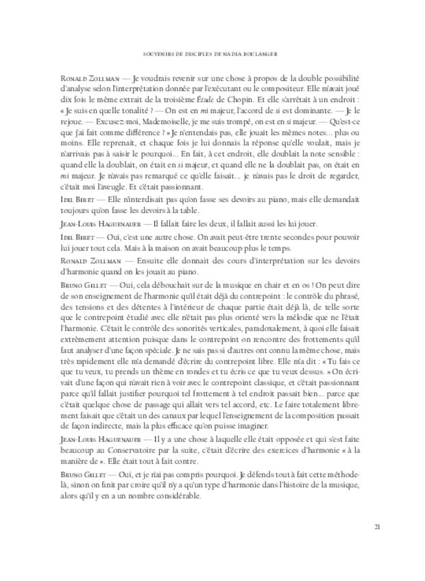 Nadia Boulanger et Lili Boulanger, extrait 3