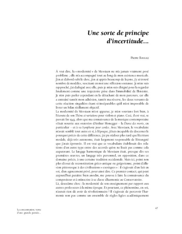 Olivier Messiaen, extrait 3