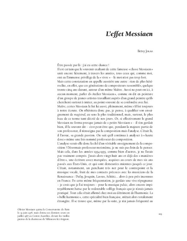 Olivier Messiaen, extrait 8