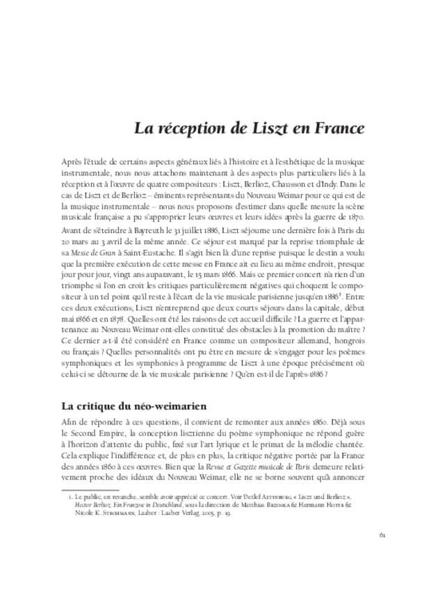Les relations franco-allemandes et la musique à programme, extrait 3