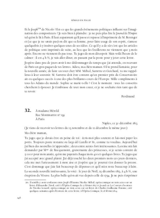 Hérold en Italie, extrait 13
