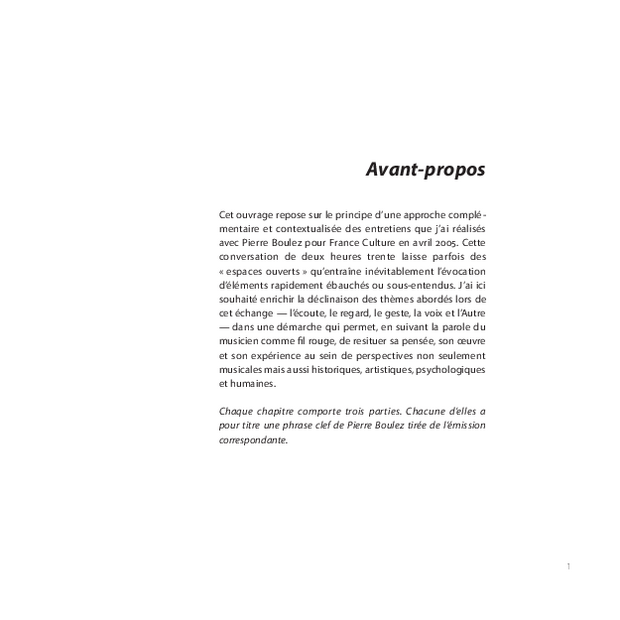 Pierre Boulez, extrait 3