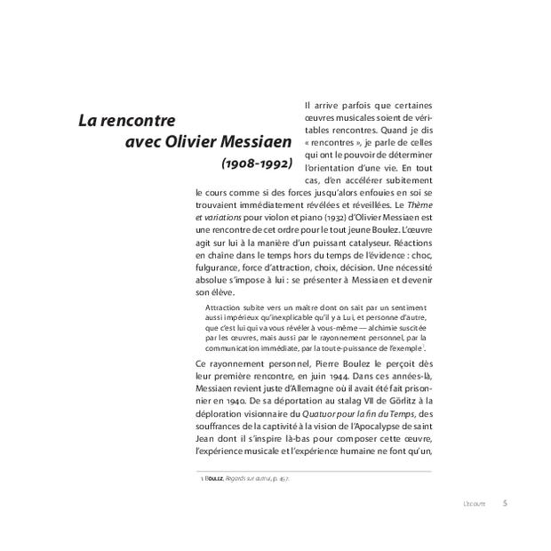Pierre Boulez, extrait 5