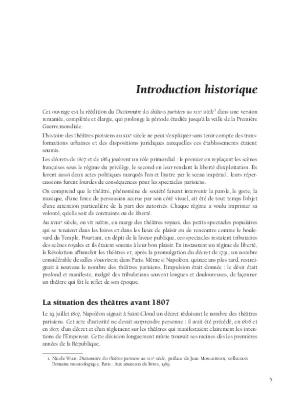Dictionnaire des théâtres parisiens (1807-1914), extrait 3