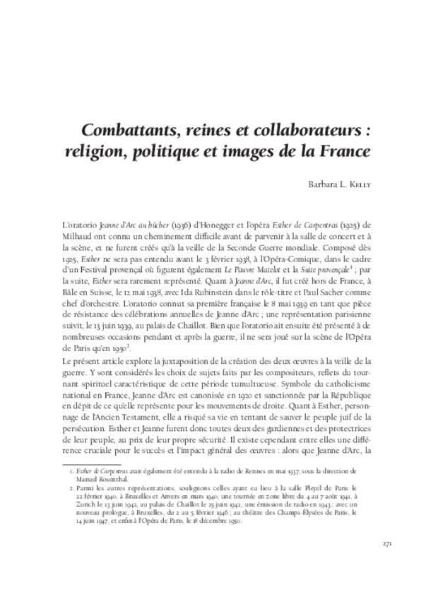 Musique, art et religion dans l'entre-deux-guerres, extrait 10