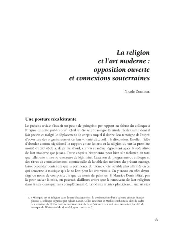 Musique, art et religion dans l'entre-deux-guerres, extrait 11