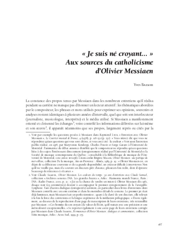 Musique, art et religion dans l'entre-deux-guerres, extrait 12
