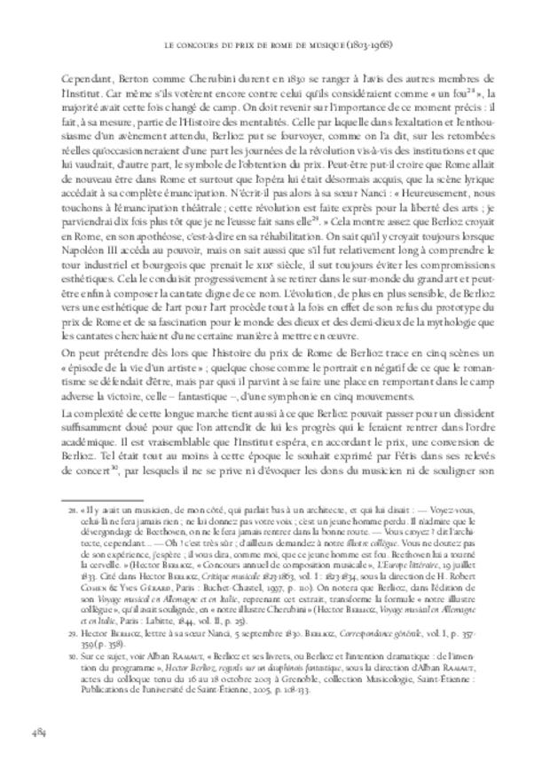 Le Concours du prix de Rome de musique (1803-1968), extrait 10