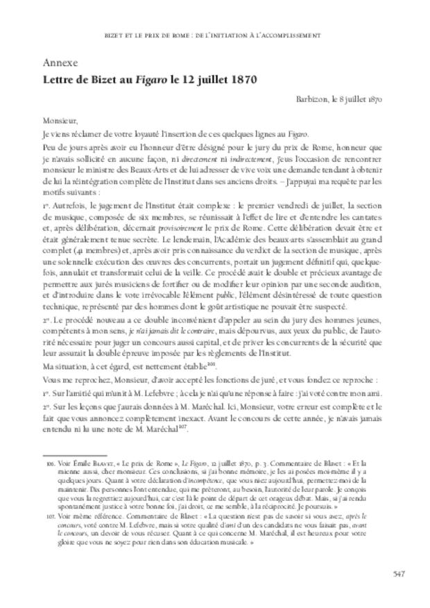 Le Concours du prix de Rome de musique (1803-1968), extrait 11