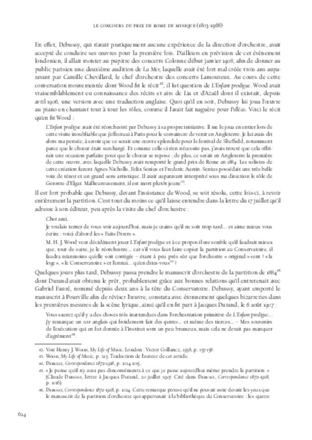 Le Concours du prix de Rome de musique (1803-1968), extrait 12