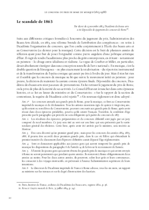 Le Concours du prix de Rome de musique (1803-1968), extrait 3