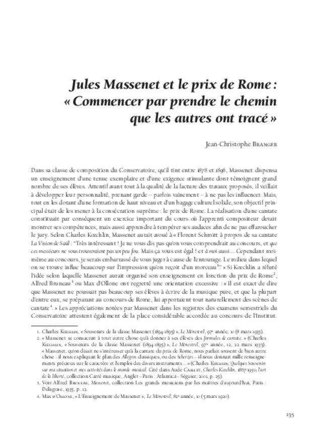 Le Concours du prix de Rome de musique (1803-1968), extrait 7