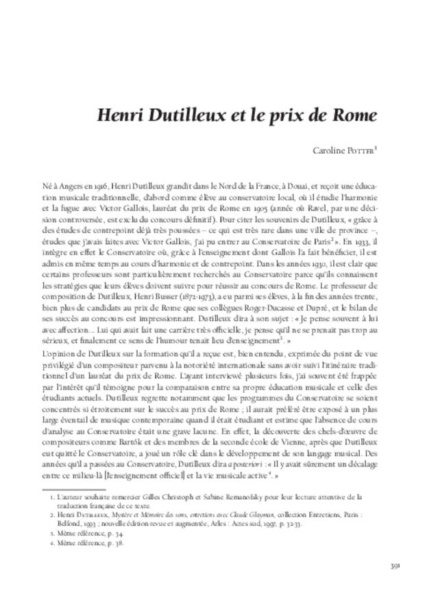 Le Concours du prix de Rome de musique (1803-1968), extrait 9