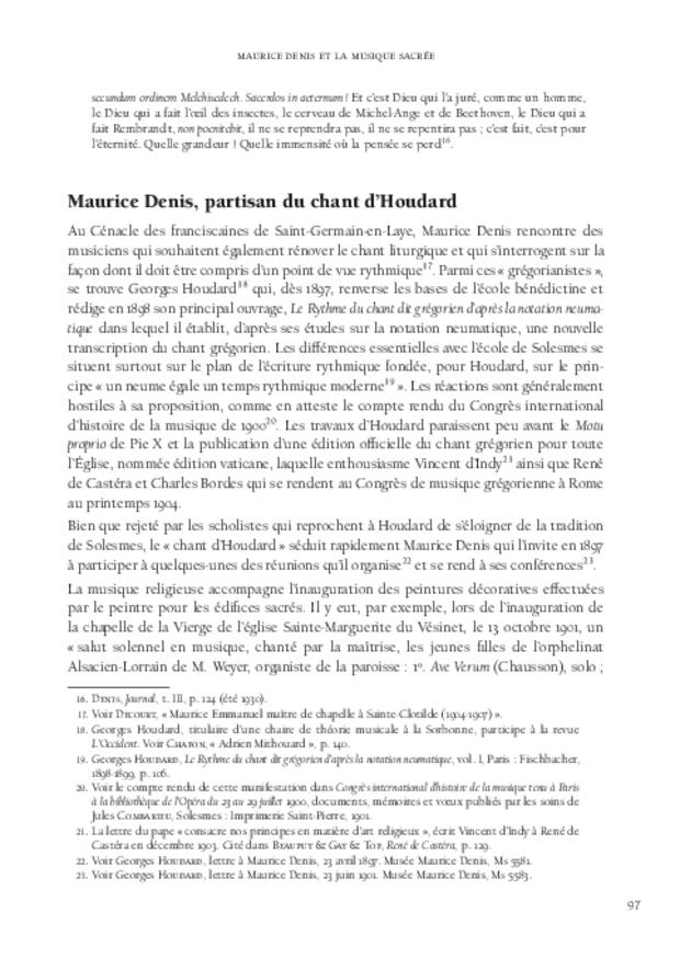 Maurice Denis et la musique, extrait 5