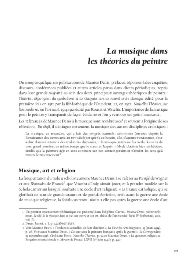 Maurice Denis et la musique, extrait 7