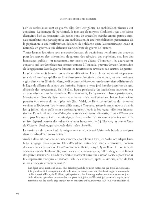 La Grande Guerre des musiciens, extrait 14