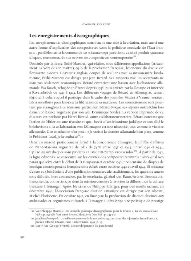 Composer sous Vichy, extrait 10