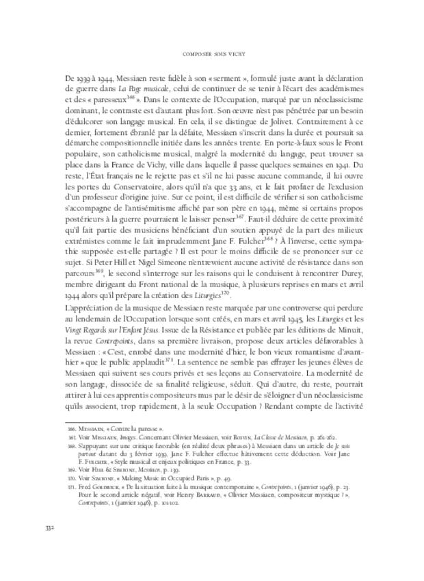 Composer sous Vichy, extrait 12