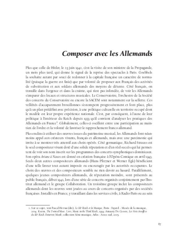 Composer sous Vichy, extrait 5