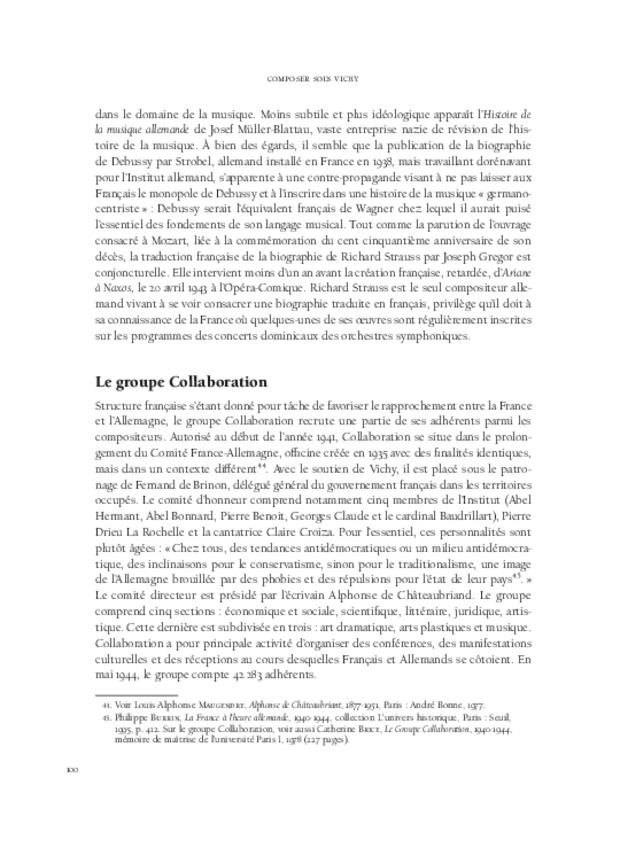 Composer sous Vichy, extrait 6