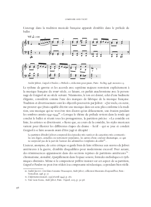 Composer sous Vichy, extrait 9