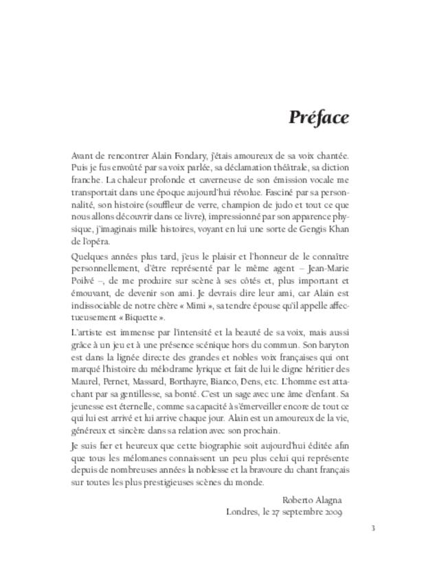 Alain Fondary, extrait 3