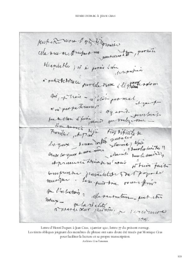 Lettres à Jean Cras, «le fils de mon âme», extrait 10