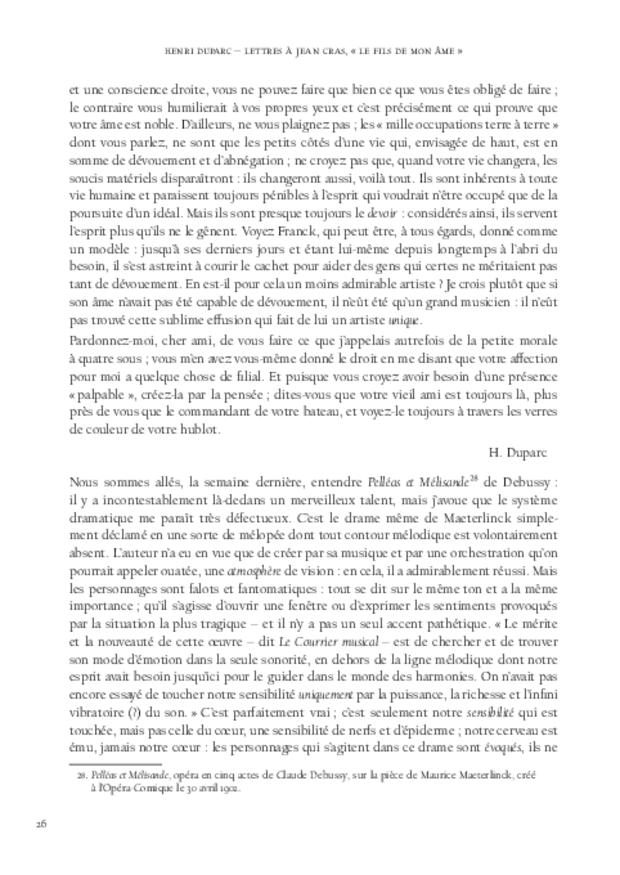 Lettres à Jean Cras, «le fils de mon âme», extrait 5