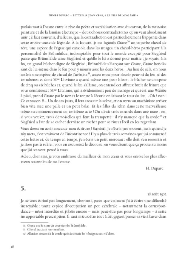 Lettres à Jean Cras, «le fils de mon âme», extrait 6