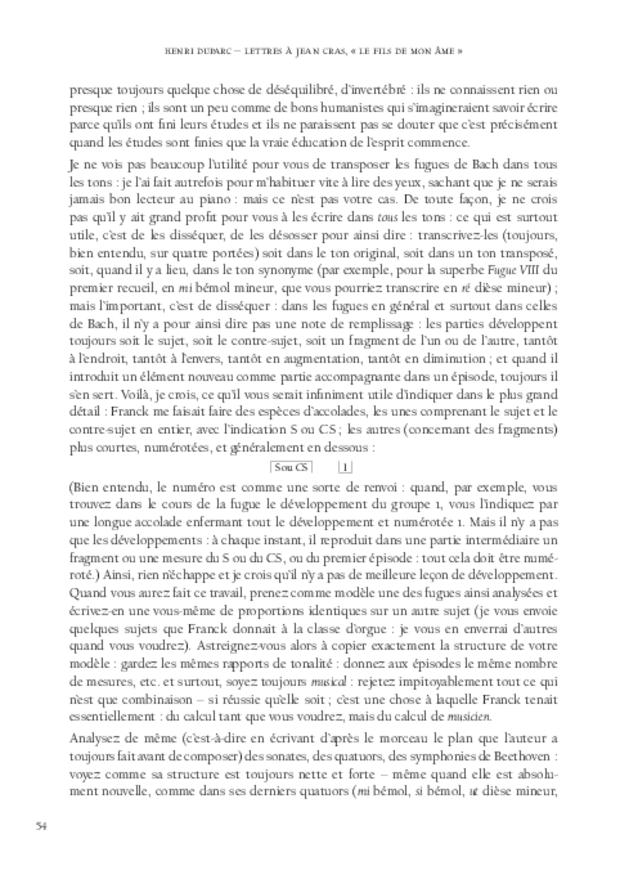Lettres à Jean Cras, «le fils de mon âme», extrait 7