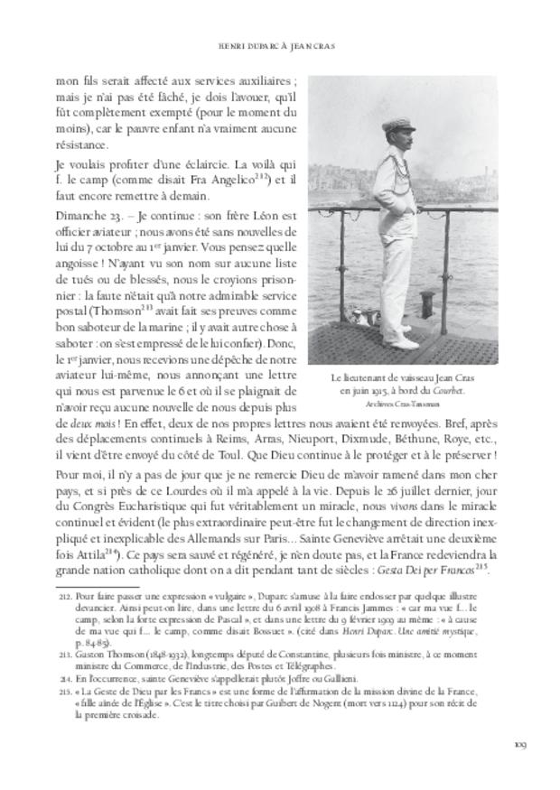 Lettres à Jean Cras, «le fils de mon âme», extrait 9