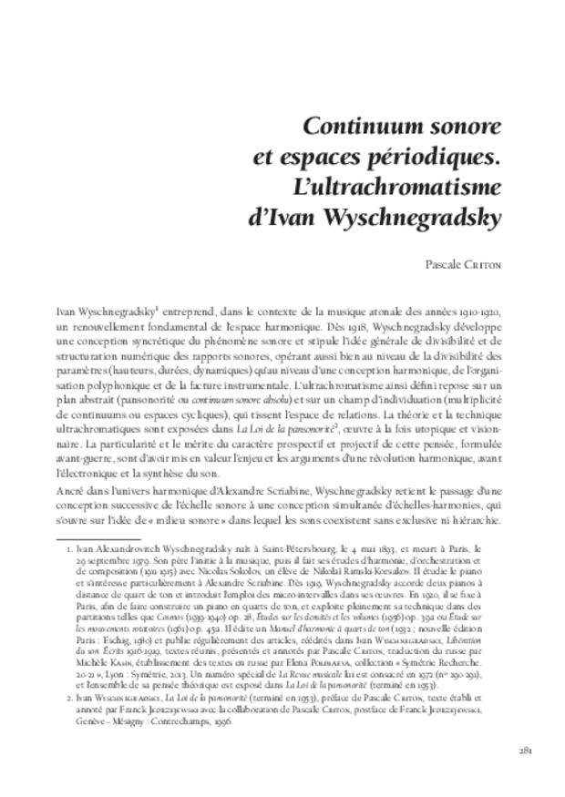 Théories de la composition musicale au xxe siècle, extrait 15