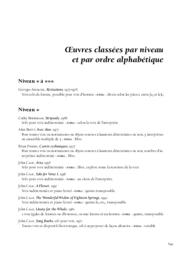 La Voix soliste contemporaine, extrait 12