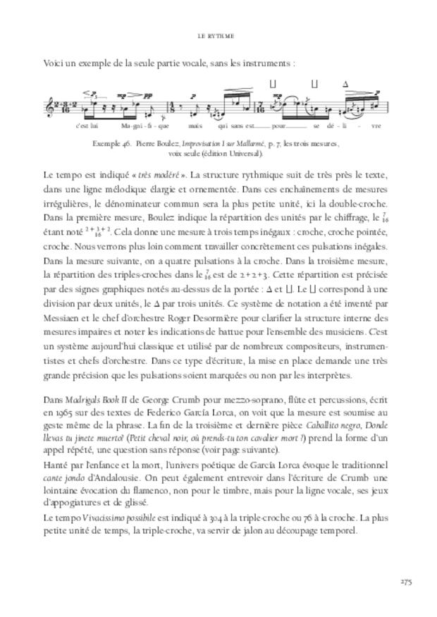La Voix soliste contemporaine, extrait 8