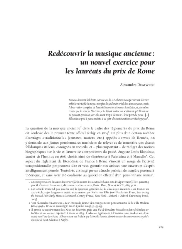 L'invention des genres lyriques français et leur redécouverte au xixe siècle, extrait 12