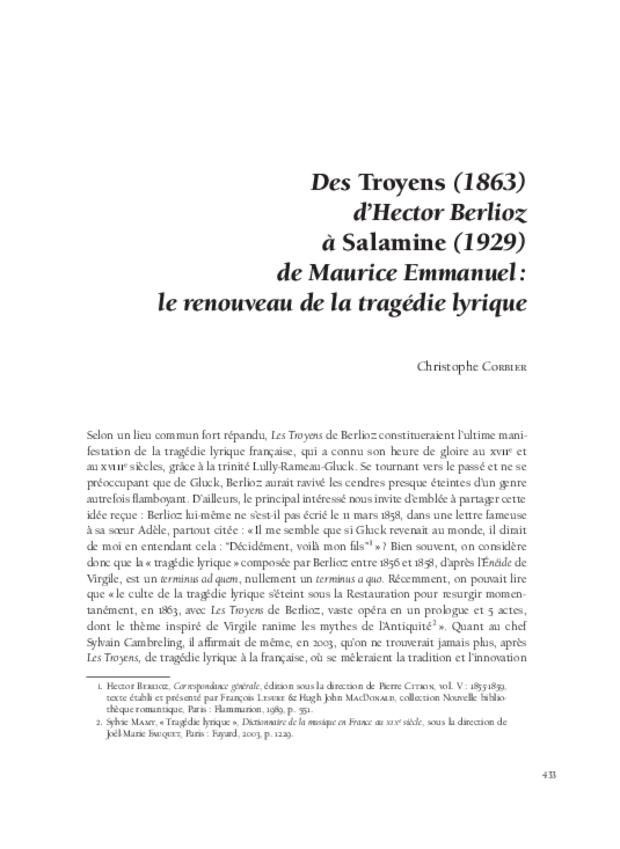 L'invention des genres lyriques français et leur redécouverte au xixe siècle, extrait 13